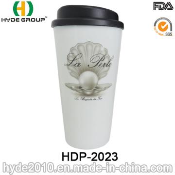 Портативная Non-хрупкий двойные стены Пластиковые кружка кофе (ДПН-2023)