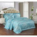 Satin Silk imitation Luxury Jacquard & embroidery damask bedding set duvet cover set