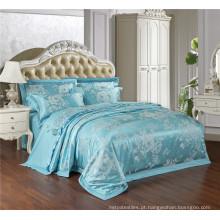 Satin Silk imitação Luxo Jacquard & bordados damasco cama conjunto conjunto de edredão