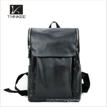 Wholesale women custom school bag genuine leather black backpack