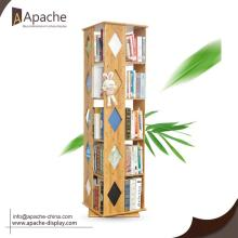 Good Quality for Book Displays Bamboo Rotative Book Display Shelf export to Norfolk Island Wholesale