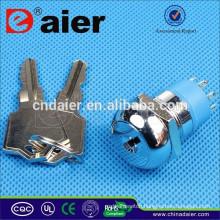 Daier K19-04 19mm key electrical switch lock