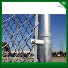Galvanized diamond post chain link fence