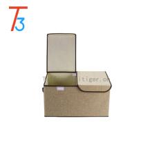 Сделай сам складной пылезащитный органайзер для корзин с двумя ручками, разделенный на 2 отделения