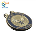 Personalisierte Logo Metall Hohe Qualität Magnetische Golf Ball Marker Hut Clip