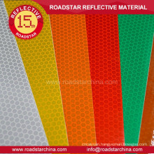 Faveolate embossing glassbeads reflector sheeting