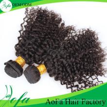 Extensión del cabello humano Remy 100% sin procesar de la Virgen de Aofa del pelo de la alta calidad