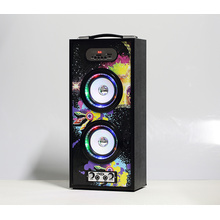Multi-functional hands-free portable multimedia speaker with mic input