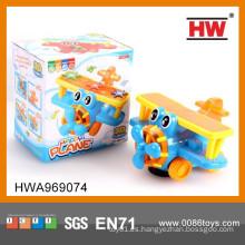 Alta calidad B / O plástico 3D juguete plano eléctrico con luz