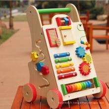 Vente chaude en bois enfants marchant voiture