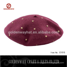 100% Acrylic Plain Custom Beret hats