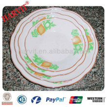 Platos de platos de Areca Platos Platos de sopa de cerámica de patrones de frutas