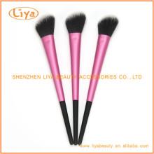 Pinceles de maquillaje sintético para polvo y rubor