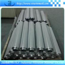 Elementos de filtro de aço inoxidável resistentes a álcalis