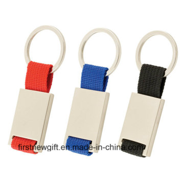 Promotional Popular Presentes Rectangle Pantone Color Ribbon Chaveiro (F1016)