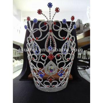colorful rhinestone tiara crown