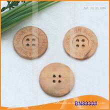 Botones de madera naturales para la prenda BN8030