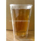 Facet Tall Double Wall Beer Or Espresso Glasses
