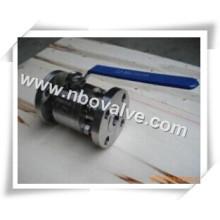 Válvula de esfera forjada de aço inoxidável de duas maneiras (ASTM F304)