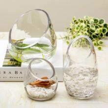 Großhandel transparente Kristallglas Vase / Blumen Vase
