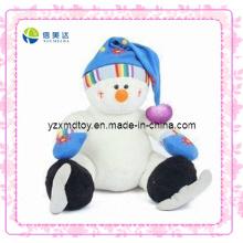 Белый улыбающийся плюшевый коньки Рождественская игрушка снеговика (XDT-0187)