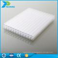 Folha oco de policarbonato de cobertura de plástico transparente de dupla parede fina