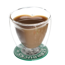 Double Walled Large Glass Mug For Coffee