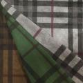 Checks Design Printing Tissu en suède pour manteau / veste / pantalon