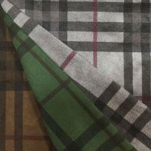 Cheques diseño de impresión de tela de gamuza para el escudo / chaqueta / pantalones