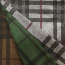 Checks Design Printing Wildleder Stoff für Mantel / Jacke / Hose