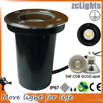 Luz de tierra LED de COB 5W Luz de jardín LED