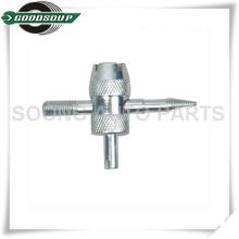 Chrom überzogenes 4 in 1 Ventilkernwerkzeug, Reifenventilreparaturwerkzeug