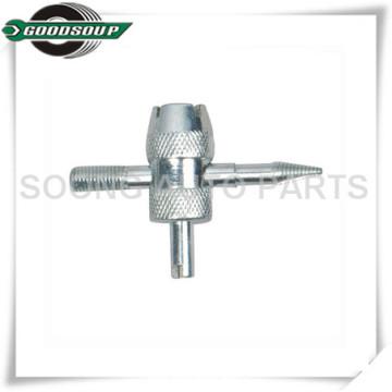 Chrome enduit 4 dans 1 outil de noyau de valve, outil de réparation de valve de pneu