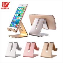 Suporte universal do telefone do suporte da mesa da tabuleta do telemóvel do metal da liga de alumínio