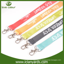 Polyester custom nice blank lanyard for sublimation