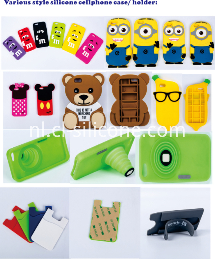 silicone cellphone case and holder