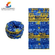 Nuevos productos calientes para 2016 lingshang cashmere venta al por mayor al aire libre deporte mágico multifuncional bandera impresa bandana transparente