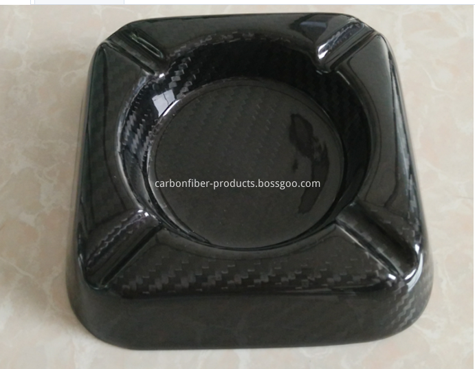 Carbon fiber smoking ashtray