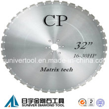 "32"" Diamond Wall Saw Blade for Reinforced Concrete"