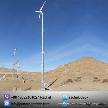 5kw pequeno gerador de vento horizontal (SN-5000W)