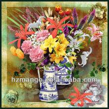 Última moda digital flor impresión cuadrado bufanda
