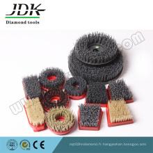 Brosse abrasive ronde en nylon / brosse antique pour le traitement de la pierre