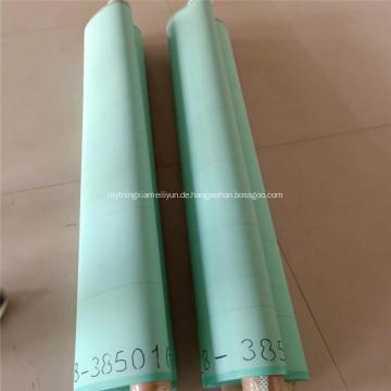 Grünes Papier, das Polyester-Maschengürtel bildet