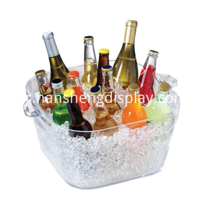 Acrylic Big Square Party Drinks Alcohol Tub