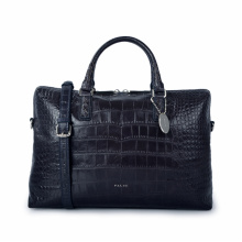 Fashion Crocodile Pattern Top Layer Cowhide Tote Bag