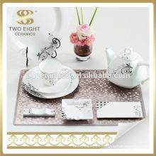 Germany matt black moroccan style dinnerware dinner set porcelain
