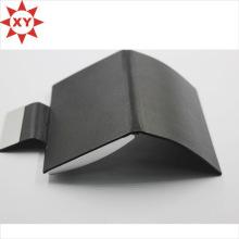 Titular de la tarjeta de presentación plegable de cuero negro de moda