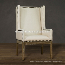 vintage french style upholstered hotel wing chair sofa XYN1564                                                                         Quality Choice