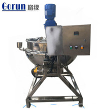 Caldera de cocción con camisa eléctrica de vapor de 200 litros de velocidad de mezcla ajustable con agitador