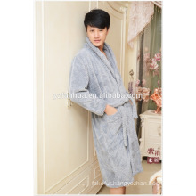 2015 New Arrival Wholesale Honeycomb jacquard Fleece Bathrobe